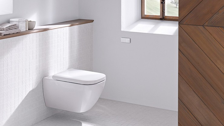 Geberit remote flush button type 70 in the bathroom